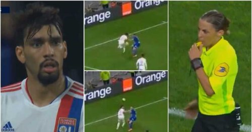 Lyon's Lucas Paqueta stunned after being booked for rainbow flick attempt