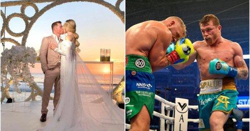 Canelo Alvarez marries fiancee Fernanda Gomez just days after knocking out Billy Joe Saunders