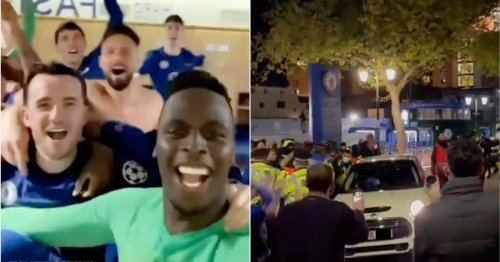 It was pure scenes inside and outside Stamford Bridge after Chelsea reached the UCL final