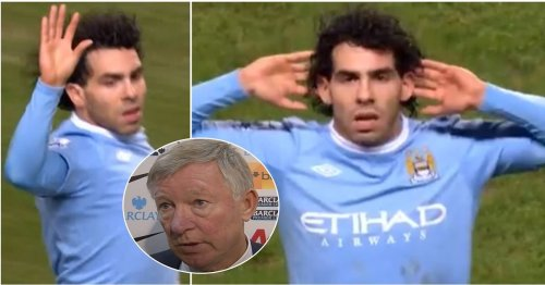 Carlos Tevez produced one of football's biggest s***house moments right in front of Alex Ferguson