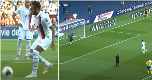 Neymar showing Real Madrid how it's done with outrageous pass-penalty will never get old