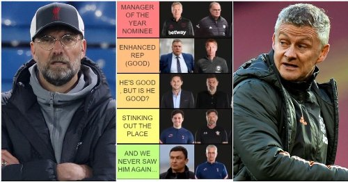 YouTuber has ranked the Premier League's 2020/21 managers from worst to best