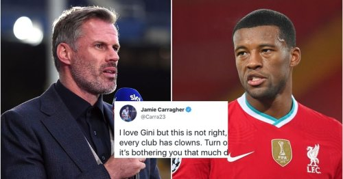 Gini Wijnaldum finally breaks silence on Liverpool exit - and Jamie Carragher is not happy