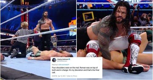 WWE referee & Adam Pearce debate finish to WrestleMania main event - rematch teased