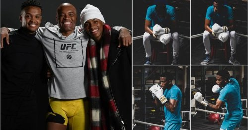 Anderson Silva's son Kalyl looks like a chip off the old block as he shows off his incredible skills