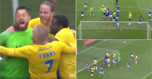 Absolute scenes as Torquay GK Lucas Covolan scores last-minute goal in play-off final