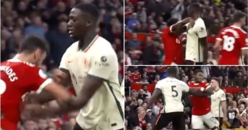New footage emerges of Ibrahima Konate dealing with Bruno Fernandes and Fred vs Man Utd