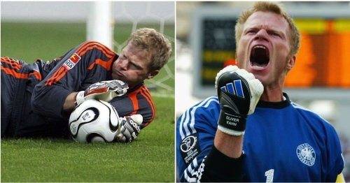 Oliver Kahn faced a group of 9-year-olds in penalty shootout for charity - he saved them all