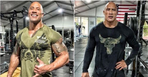 We need to start talking about just how big The Rock's legs are right now