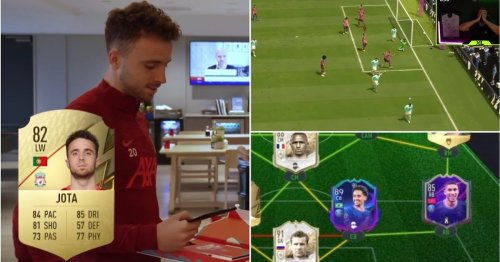 Diogo Jota draws vs former World Champion on FIFA 22 Ultimate Team - his team is outrageous