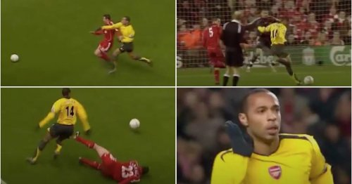 Thierry Henry assisting himself vs Liverpool with a crazy sprint is still mind-boggling