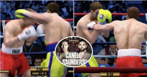 Canelo vs Billy Joe Saunders has been simulated ahead of tonight's fight - brutal KO finish