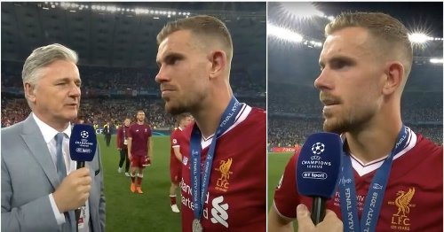 Jordan Henderson showed he's the perfect captain in his interview after losing 2018 CL final
