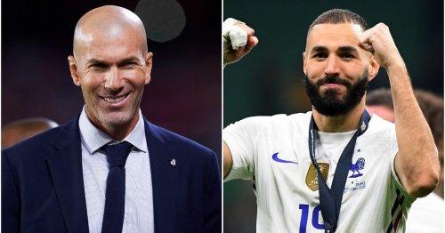 Zinedine Zidane says Real Madrid star Karim Benzema deserves to win Ballon d'Or