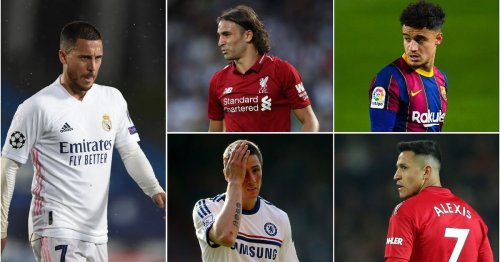 Eden Hazard named the worst signing in football history as the top 30 is ranked