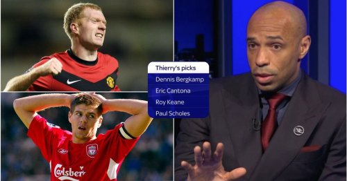 Thierry Henry explains why Paul Scholes makes his PL Hall of Fame list over Steven Gerrard