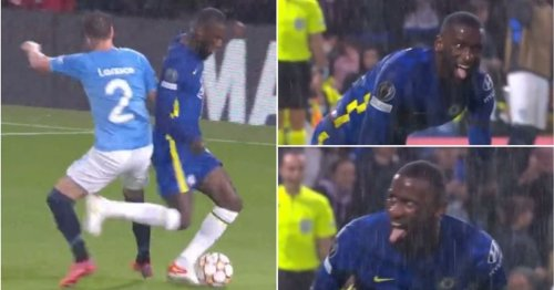 Antonio Rudiger's reaction to winning penalty vs Malmo was so odd it's going viral