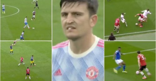 Harry Maguire's 2021/22 season has been savagely mocked by fan's video compilation