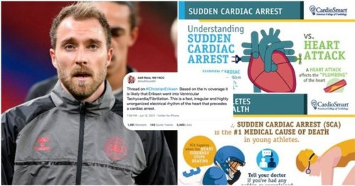 Heart doctor's educational Twitter thread on Christian Eriksen collapse is so, so important