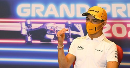 Lando Norris has joked it's 'about time' Perez overtook him in the Drivers' standings
