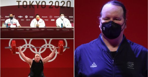 Weightlifter issues very cold response to question about Laurel Hubbard & it's gone viral