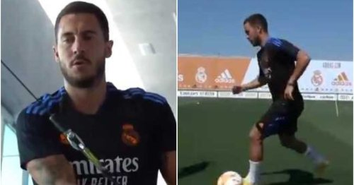 Real Madrid players are reportedly surprised by Eden Hazard's physique as he returns to training