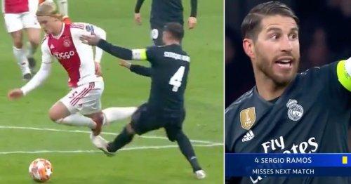 Karma hit Sergio Ramos like a train when he picked up a yellow card 'on purpose' vs Ajax