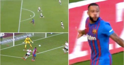 Memphis Depay has just scored the sauciest goal on his first Barcelona start v Stuttgart