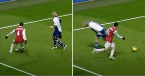 When a prime Cesc Fabregas embarrassed Robbie Savage with one of the filthiest nutmegs