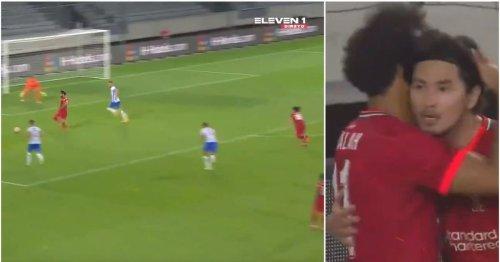 Mohamed Salah's assist for Minamino's goal vs Hertha Berlin was the definition of genius