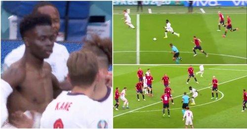 Bukayo Saka's fearless highlights vs Czech Republic show he must start in round of 16