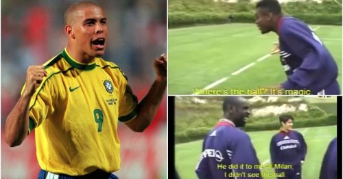 Brilliant clip of Desailly and Thuram discussing Ronaldo before '98 WC shows how scary he was