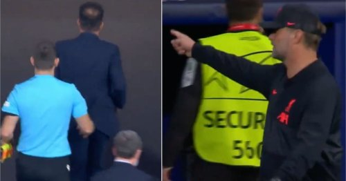 Jurgen Klopp wasn't happy as Diego Simeone runs off without shaking hands at full-time