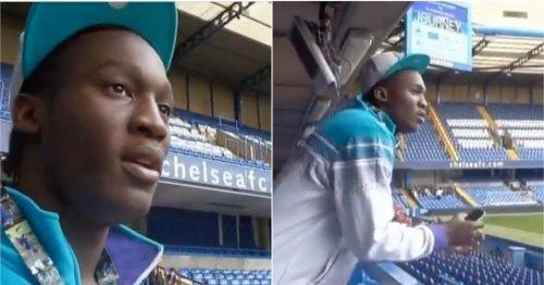 Romelu Lukaku's reaction to seeing Stamford Bridge for first time in 2010 is beautiful