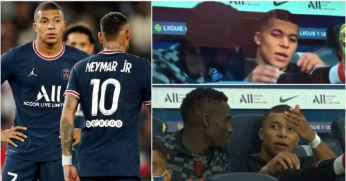 Footage captured Kylian Mbappe complaining about Neymar after Draxler's goal vs Montpellier