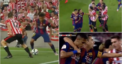 Never forget when Neymar nearly started a mass brawl with a rainbow flick