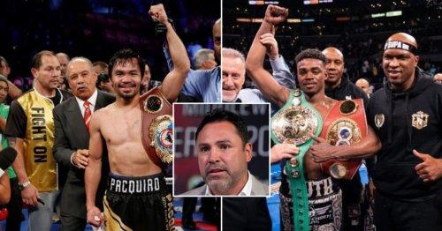 Oscar De La Hoya sends Errol Spence Jr warning ahead of Manny Pacquiao fight