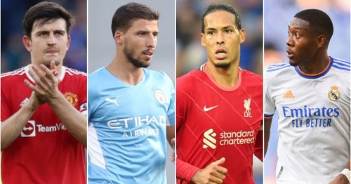 The 10 best centre-backs in the world have been named - Virgil van Dijk 2nd