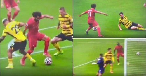 Footage of Mo Salah's wonder-goal v Watford in super slow-motion is so good it's gone viral