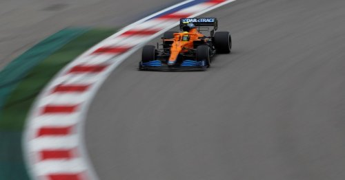 Charles Leclerc has empathised with Lando Norris after the Russian GP was swept away from him