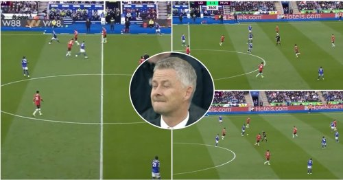 Embarrassing clip of Man Utd at 1-1 v Leicester shows players 'have no idea what they're doing'