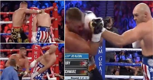 Tyson Fury turned into prime Muhammad Ali before dropping Tom Schwarz with 3-punch combo