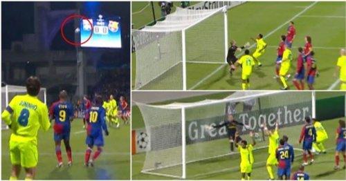 Juninho's superhuman free-kick vs prime Barcelona should be studied by scientists