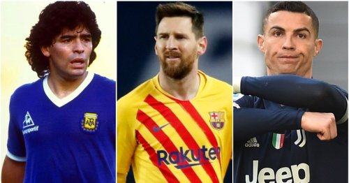 The 50 greatest players of all time have been ranked - Lionel Messi only third