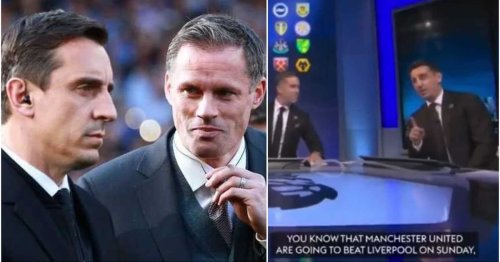 Jamie Carragher mocks Gary Neville for his awkward pre-match United vs Liverpool prediction