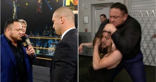 Samoa Joe makes shock WWE NXT return and chokes Adam Cole out with the Coquina Clutch