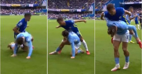 Cesar Azpilicueta's challenge on Jack Grealish in City vs Chelsea was so odd it's gone viral