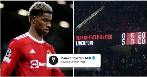 Marcus Rashford has just posted an emotional tweet about Man United 0-5 Liverpool