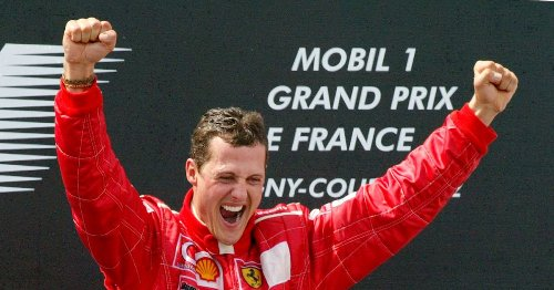 WATCH: Michael Schumacher seals his fifth world title at the French Grand Prix