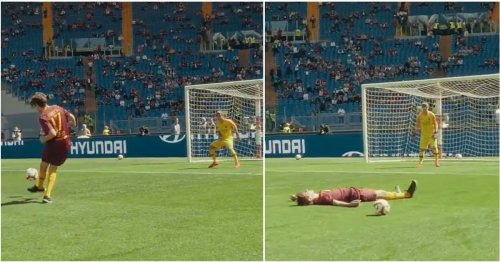 Roma fan says 'Even I could have scored that' - so they invite him down to prove it